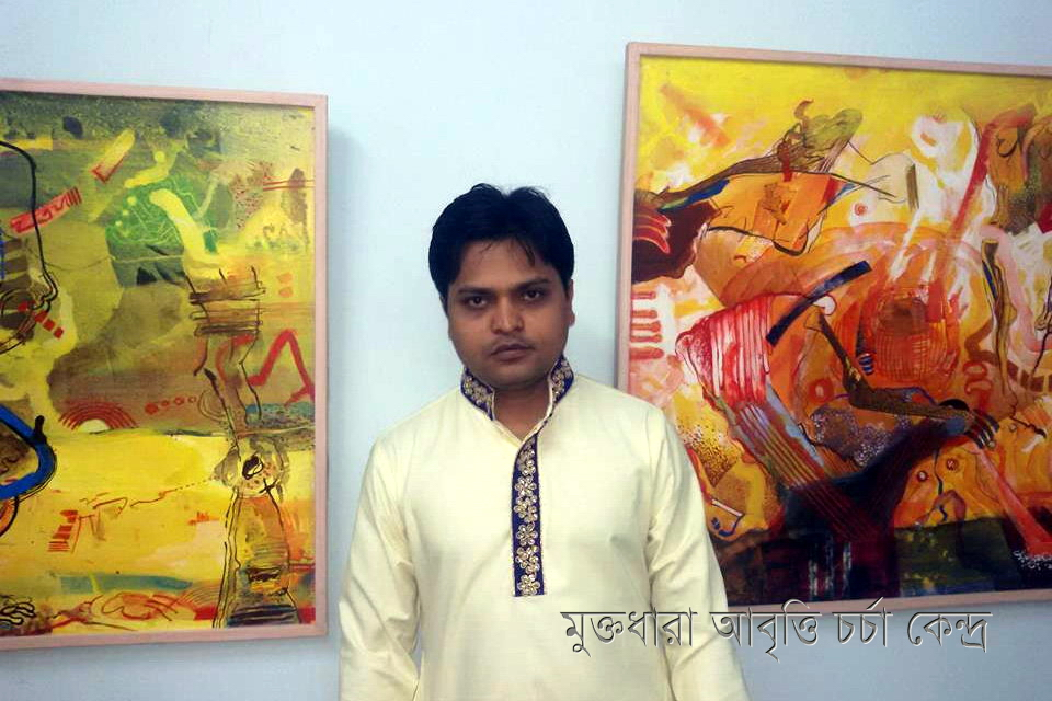 Md. Sajjad Hossain at an Art Exibition